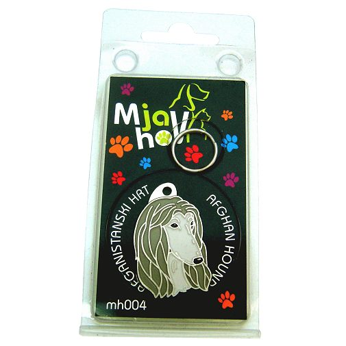 Custom personalized dog name tag AFGHAN HOUND GREY