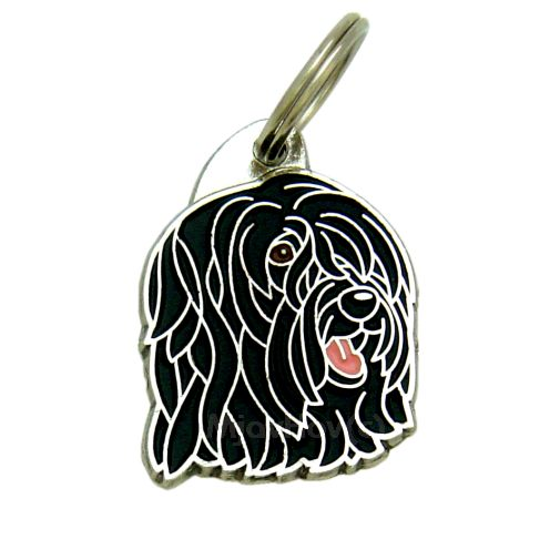 Custom personalized dog name tag BRIARD BLACK