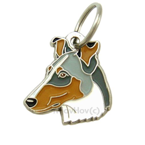 Custom personalized dog name tag SMOOTH COLLIE BLUE MERLE