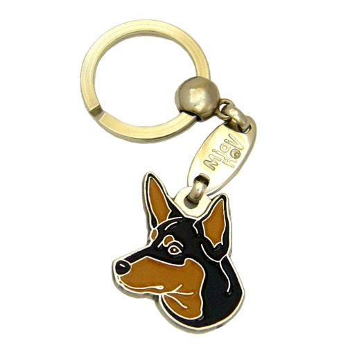 Custom personalized dog name tag AUSTRALIAN KELPIE BLACK & TAN