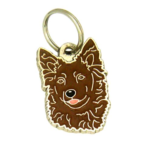 Custom personalized dog name tag MUDI BROWN
