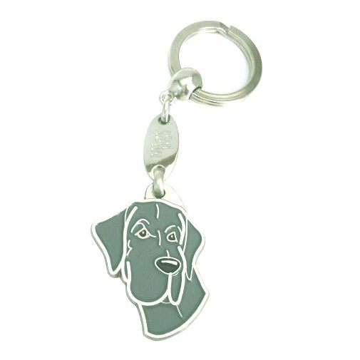 Custom personalized dog name tag GREAT DANE BLUE Color: colored/silver  Dim: 30 x 40 mm Engraving area:  18 x 20 mm Metal, chrome plated pet tag.   Personalized laser engraving on the back side included.  Hand made  MADE IN SLOVENIA  In stock.