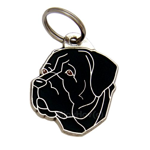 Custom personalized dog name tag CANE CORSO BLACK
