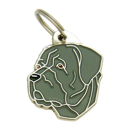 Custom personalized dog name tag CANE CORSO GREY