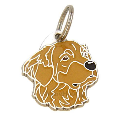 Custom personalized dog name tag HOVAWART BROWN