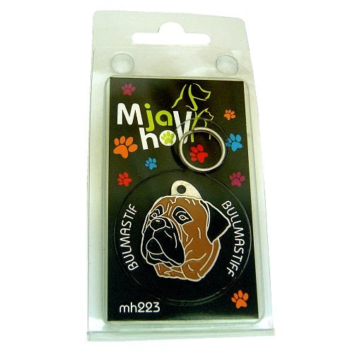 Custom personalized dog name tag BULLMASTIFF