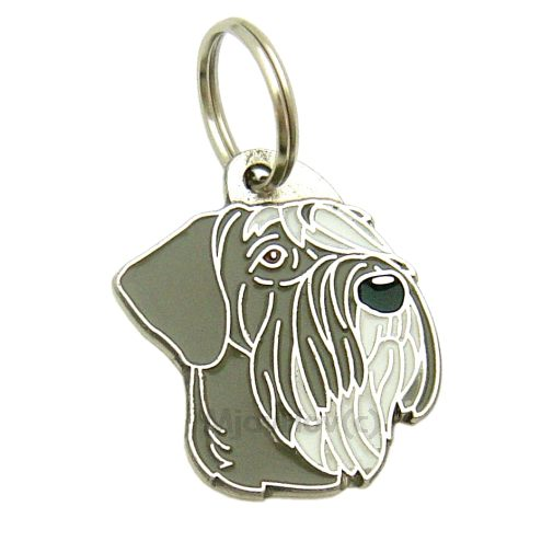 Custom personalized dog name tag GIANT SCHNAUZER PEPPER SALT