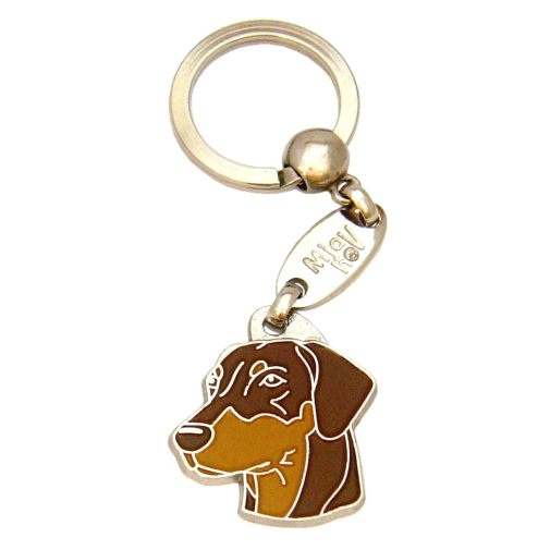 Custom personalized dog name tag DOBERMAN BROWN
