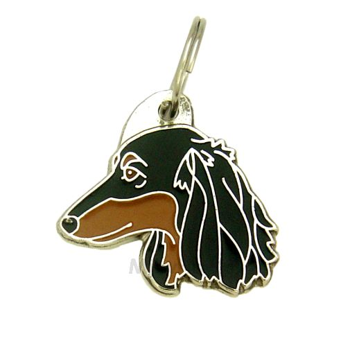 Custom personalized dog name tag DACHSHUND LONGHAIRED