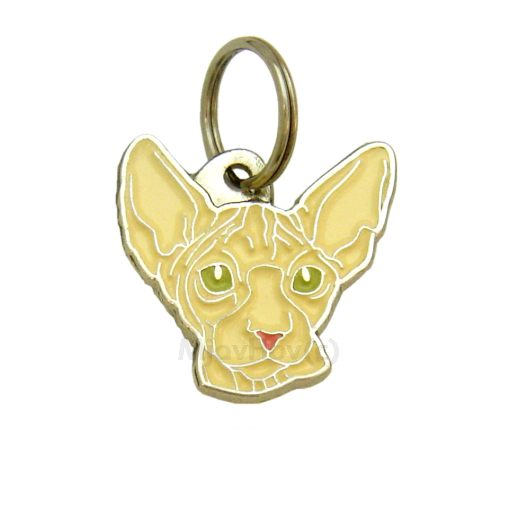 Custom personalized cat name tag SPHYNX CAT CREAM