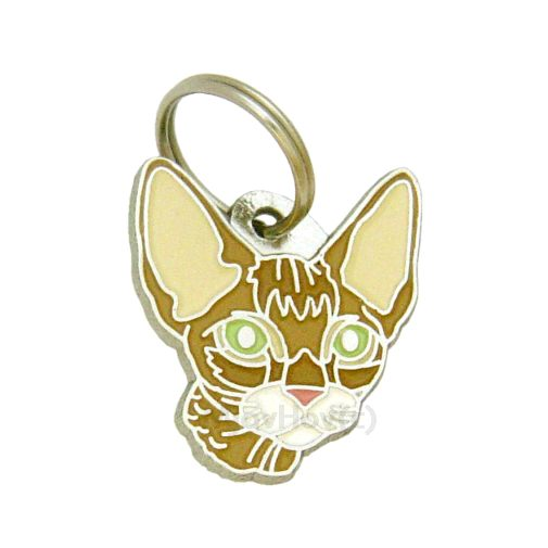 Custom personalized cat name tag DEVON REX BROWN