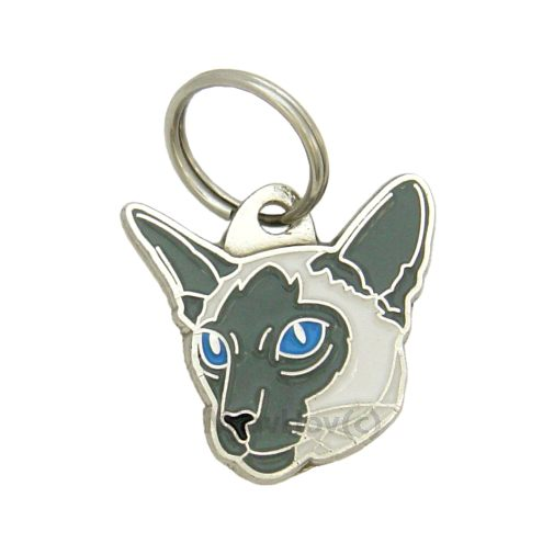 Custom personalized cat name tag SIAMESE CAT  BLUE