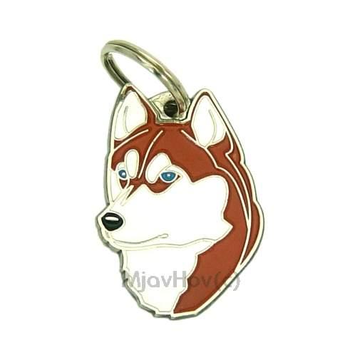 Siberian Husky Dog Chrome Keyring