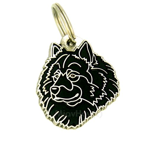 Custom personalized dog name tag EURASIER BLACK