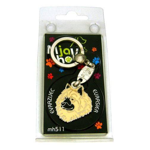 Custom personalized dog name tag EURASIER CREAM