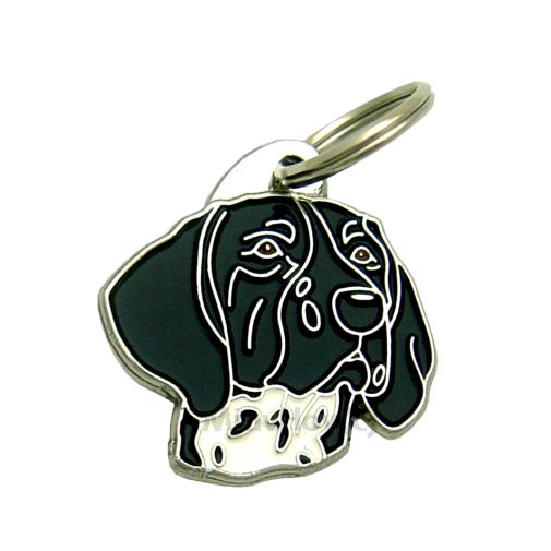 Custom personalized dog name tag GERMAN SHORTHAIRED POINTER BLACK