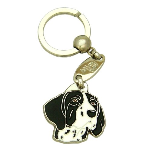 Custom personalized dog name tag GERMAN SHORTHAIRED POINTER BLACK AND WHITE