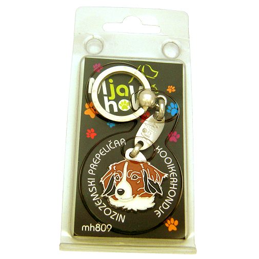 Custom personalized dog name tag KOOIKERHONDJE