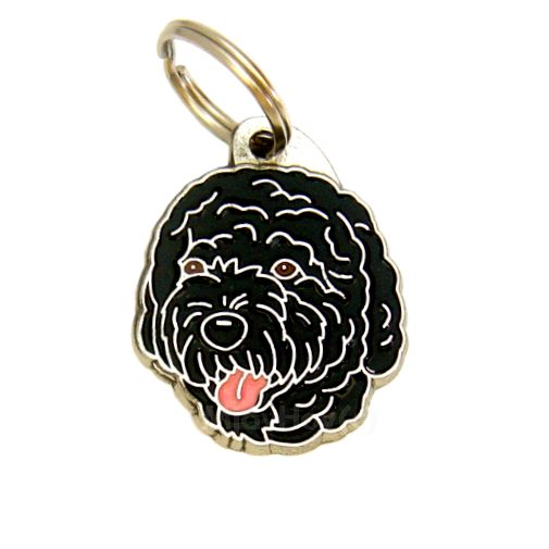 Custom personalized dog name tag PORTUGUESE WATER DOG BLACK