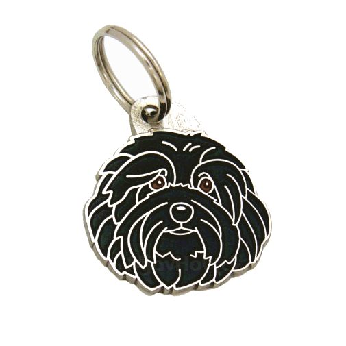 Custom personalized dog name tag HAVANESE BLACK