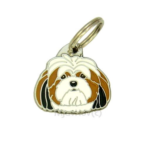 Custom personalized dog name tag LHASA APSO TRICOLOR