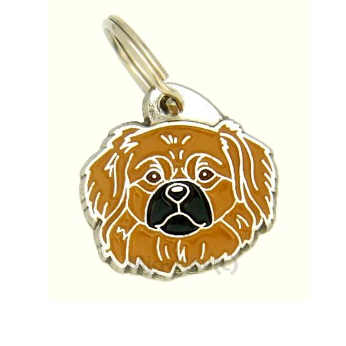 Custom personalized dog name tag TIBETAN SPANIEL BROWN