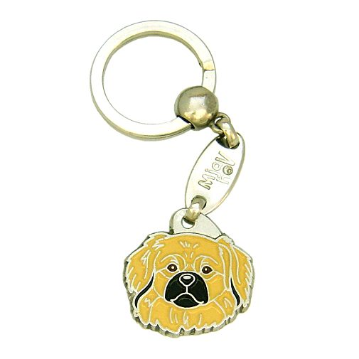 Custom personalized dog name tag TIBETAN SPANIEL CREAM