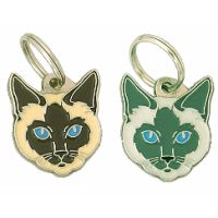 pet tags MjavHov - Siamese cat traditional