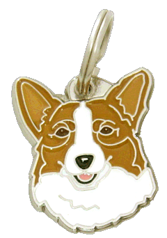 Welsh corgi punainen - pet ID tag, dog ID tags, pet tags, personalized pet tags MjavHov - engraved pet tags online