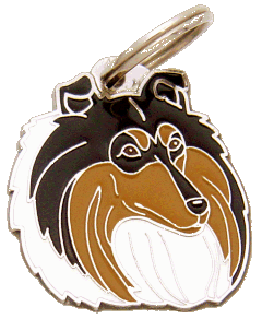 Skotlanninpaimenkoira kolmivärinen - pet ID tag, dog ID tags, pet tags, personalized pet tags MjavHov - engraved pet tags online
