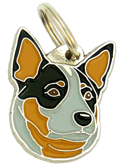 Australiankarjakoira sininen - pet ID tag, dog ID tags, pet tags, personalized pet tags MjavHov - engraved pet tags online
