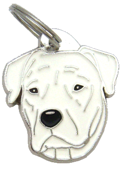 Dogo argentino - pet ID tag, dog ID tags, pet tags, personalized pet tags MjavHov - engraved pet tags online
