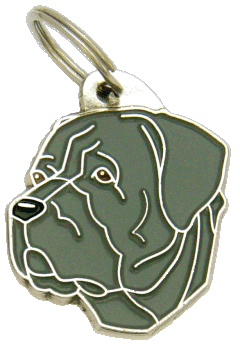 Cane corso harmaa - pet ID tag, dog ID tags, pet tags, personalized pet tags MjavHov - engraved pet tags online