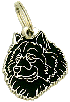 Eurasier musta - pet ID tag, dog ID tags, pet tags, personalized pet tags MjavHov - engraved pet tags online