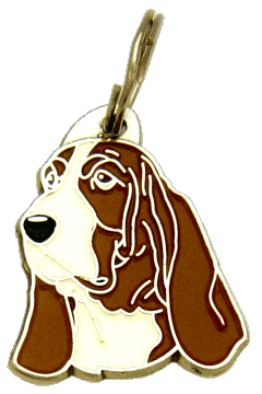 Basset hound ruskea - pet ID tag, dog ID tags, pet tags, personalized pet tags MjavHov - engraved pet tags online