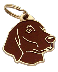 Sileäkarvainen noutaja ruskea - pet ID tag, dog ID tags, pet tags, personalized pet tags MjavHov - engraved pet tags online