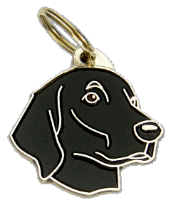 Sileäkarvainen noutaja - pet ID tag, dog ID tags, pet tags, personalized pet tags MjavHov - engraved pet tags online