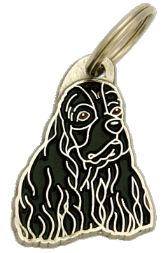 Amerikancockerspanieli musta - pet ID tag, dog ID tags, pet tags, personalized pet tags MjavHov - engraved pet tags online