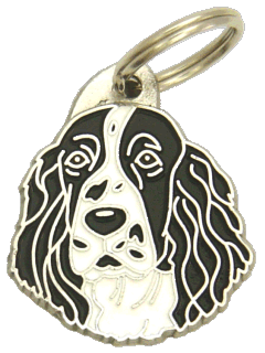 Springerspanieli mustavalkoinen - pet ID tag, dog ID tags, pet tags, personalized pet tags MjavHov - engraved pet tags online