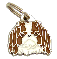 Japanese chin ruskea-valkoinen - pet ID tag, dog ID tags, pet tags, personalized pet tags MjavHov - engraved pet tags online