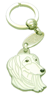 Saluki valkoinen - pet ID tag, dog ID tags, pet tags, personalized pet tags MjavHov - engraved pet tags online