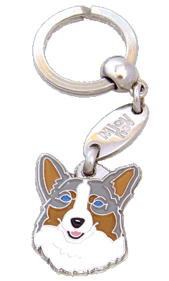 Welsh corgi sinimarmori - pet ID tag, dog ID tags, pet tags, personalized pet tags MjavHov - engraved pet tags online