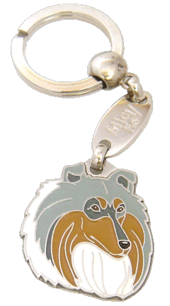Skotlanninpaimenkoira sinimarmori - pet ID tag, dog ID tags, pet tags, personalized pet tags MjavHov - engraved pet tags online