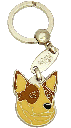 Australiankarjakoira punainen - pet ID tag, dog ID tags, pet tags, personalized pet tags MjavHov - engraved pet tags online