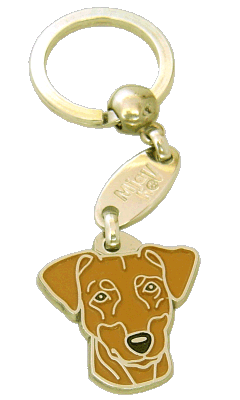 Pinseri ruskea - pet ID tag, dog ID tags, pet tags, personalized pet tags MjavHov - engraved pet tags online
