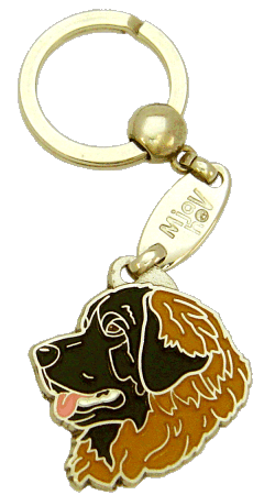 Leonberginkoira musta - pet ID tag, dog ID tags, pet tags, personalized pet tags MjavHov - engraved pet tags online