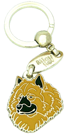 Eurasier keltainen - pet ID tag, dog ID tags, pet tags, personalized pet tags MjavHov - engraved pet tags online