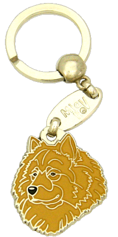 Eurasier keltainen ilman maskia - pet ID tag, dog ID tags, pet tags, personalized pet tags MjavHov - engraved pet tags online