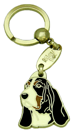 Basset hound - pet ID tag, dog ID tags, pet tags, personalized pet tags MjavHov - engraved pet tags online