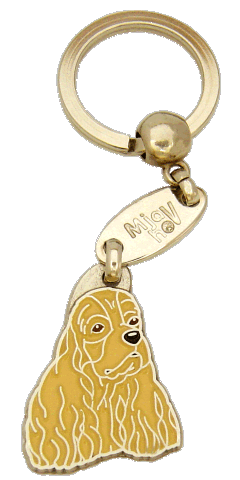 Amerikancockerspanieli ruskea - pet ID tag, dog ID tags, pet tags, personalized pet tags MjavHov - engraved pet tags online